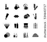 cosmetics vector set flat web... | Shutterstock .eps vector #534643717