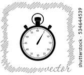 stopwatch  black  vector icon | Shutterstock .eps vector #534644539