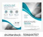 brochure or flyer design... | Shutterstock .eps vector #534644707