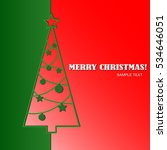 merry christmas greeting card... | Shutterstock .eps vector #534646051