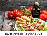 Plate Of Salad  Greek Food ...