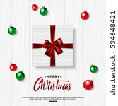 merry christmas background with ... | Shutterstock .eps vector #534648421