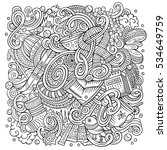 cartoon cute doodles hand drawn ... | Shutterstock .eps vector #534649759