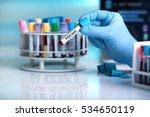 blood sample in tube labeled... | Shutterstock . vector #534650119