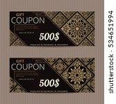 gift voucher in luxury style.... | Shutterstock .eps vector #534651994