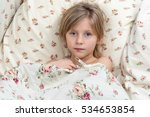 sick young girl with herpes on... | Shutterstock . vector #534653854