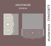 diy laser cutting vector... | Shutterstock .eps vector #534653875