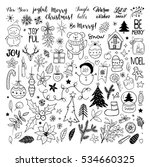 big set of christmas hand drawn ... | Shutterstock .eps vector #534660325