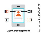 ui ux development flat icon....