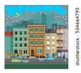 dangerous street criminals ... | Shutterstock .eps vector #534664795