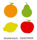 set fruits  vector  eps  jpg ...   Shutterstock .eps vector #534670909