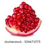pomegranate isolated on white... | Shutterstock . vector #534671575