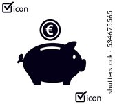 piggy bank icon. pictograph of... | Shutterstock .eps vector #534675565