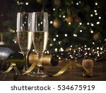 new year toast champagne  ... | Shutterstock . vector #534675919