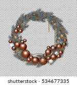 christmas wreath ornament on a ... | Shutterstock .eps vector #534677335