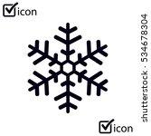 snowflake icon. | Shutterstock .eps vector #534678304