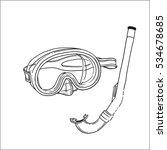 snorkeling equipment  diving...   Shutterstock .eps vector #534678685