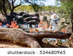 little girl on african safari... | Shutterstock . vector #534680965