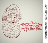 santa claus vector. merry... | Shutterstock .eps vector #534681229