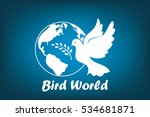 earth  dove  olive branch icons ... | Shutterstock .eps vector #534681871