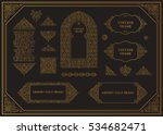 arabic vector set of frames.... | Shutterstock .eps vector #534682471