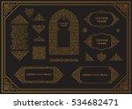 arabic vector set of frames.... | Shutterstock .eps vector #534682471