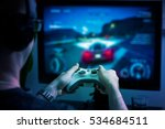 gaming game play tv fun gamer... | Shutterstock . vector #534684511