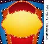 retro stage shining banner...   Shutterstock .eps vector #534684661