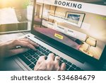 booking hotel travel traveler... | Shutterstock . vector #534684679