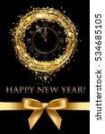 vector happy new year card with ... | Shutterstock .eps vector #534685105