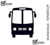 bus icon. schoolbus simbol. | Shutterstock .eps vector #534685129