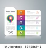 infographic design vector and... | Shutterstock .eps vector #534686941