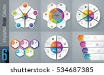 infographic design vector and... | Shutterstock .eps vector #534687385