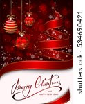 background with christmas tree...   Shutterstock .eps vector #534690421