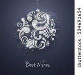 vector christmas new year... | Shutterstock .eps vector #534691654