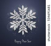 vector christmas new year... | Shutterstock .eps vector #534691681