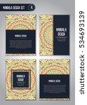 tribal mandala design set.... | Shutterstock .eps vector #534693139