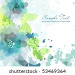 artistic flower background | Shutterstock .eps vector #53469364