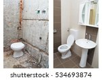 house renovation   before and... | Shutterstock . vector #534693874