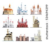 set of medieval castles icons... | Shutterstock .eps vector #534694399