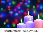 christmas candles and lights.... | Shutterstock . vector #534694837