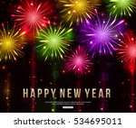 happy new year firework... | Shutterstock .eps vector #534695011