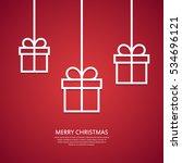 outline hanging gift boxes....   Shutterstock .eps vector #534696121