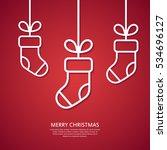 Outline Hanging Christmas Sock...