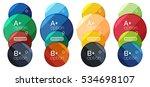 set of round option diagram... | Shutterstock .eps vector #534698107