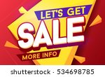 let's get sale banner. sale and ... | Shutterstock .eps vector #534698785