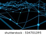 blockchain network   machine... | Shutterstock . vector #534701395