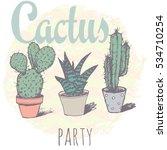 vintage cactus print for t...   Shutterstock . vector #534710254