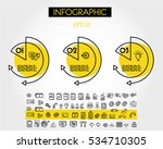 yellow linear infographic... | Shutterstock .eps vector #534710305