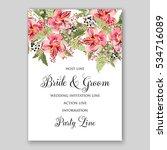 alstroemeria wedding invitation ... | Shutterstock .eps vector #534716089